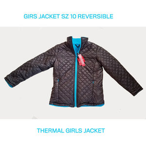NEW ONE KID REVERSIBLE THERMAL GIRLS JACKET SZ 10